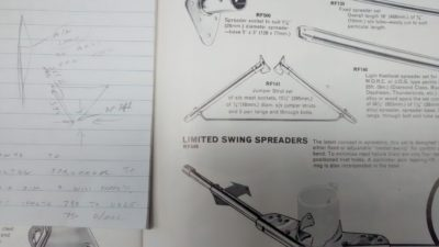 We found the old diamond spreader in a Ronstan catalogue from 1971