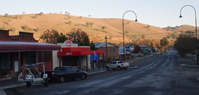 On the road - yes this is Gundagai.