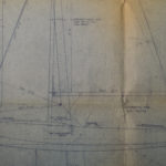 National E sail plan from Jack Holt designs 1955